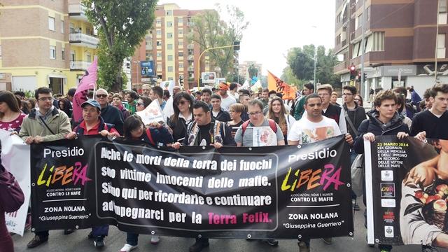 Libera area nolana a Latina per ricordare le vittime delle mafie