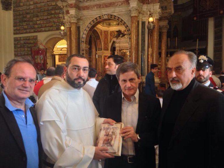 Alemanno in visita al Santuario di Madonna dell'Arco