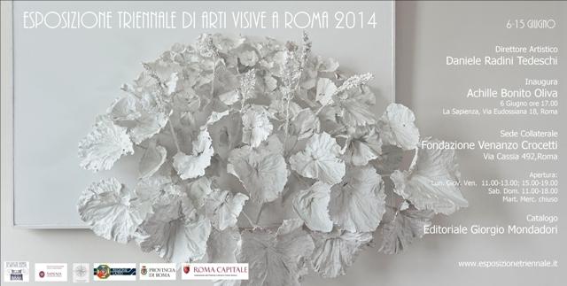 Evan De Vilde ospite all' esposizione triennale di arti visive di Roma