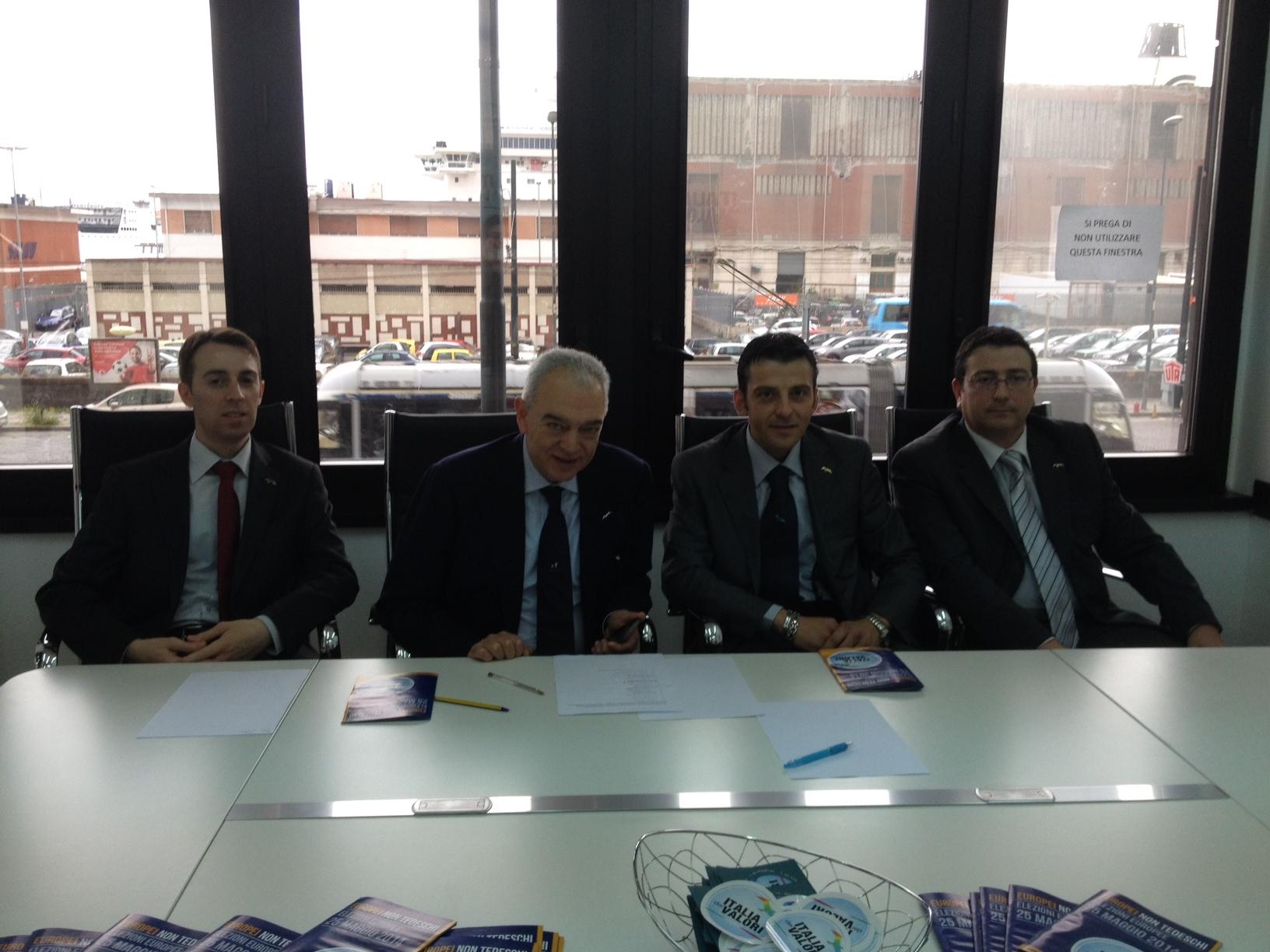 presentazione candidati europee IDV della Campania