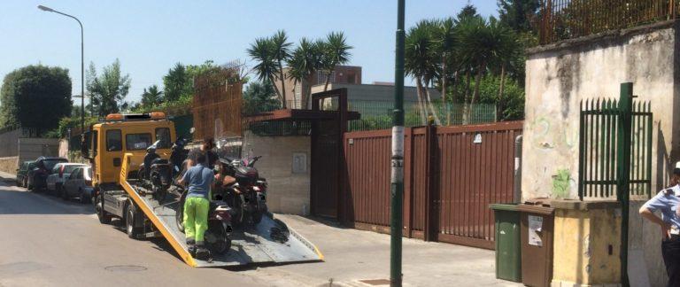 Task force della Polizia Locale, decine di fermi e sequestri delle moto