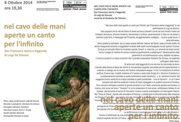 A Napoli una performance su San Francesco