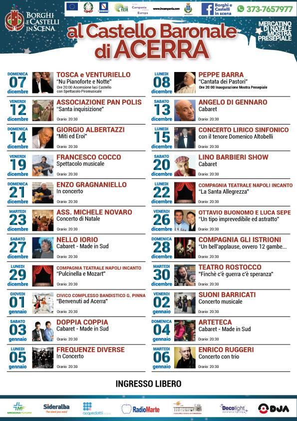 """""""Borghi e Castelli in scena"""" ad Acerra, ecco il calendario delle Feste"""