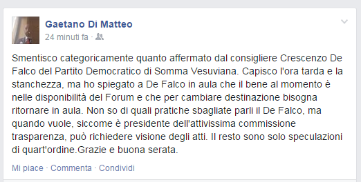 """Di Matteo sconfessa il sindaco: """"Nel bene confiscato la sede del Forum"""""""