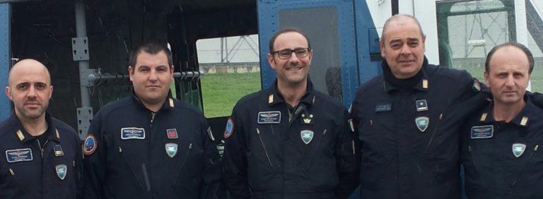 In attesa di un trapianto, soccorso aereo del 6° reparto volo della Polizia di Napoli