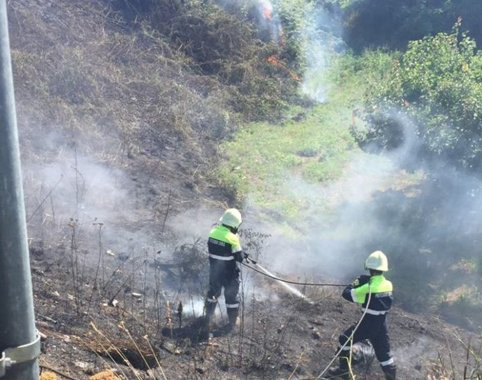 intervento antincendio Prot Civ
