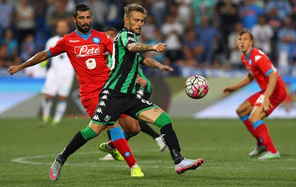 Campionato di serie A, Napoli: inizio in salita, punito dal Sassuolo