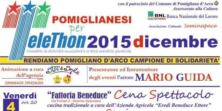 Pomigliano in gara per la solidarietà con Telethon – calendario eventi