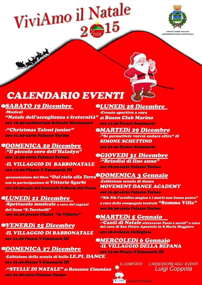 Musica, giochi per i bimbi, teatro: ecco il programma del Natale a Somma