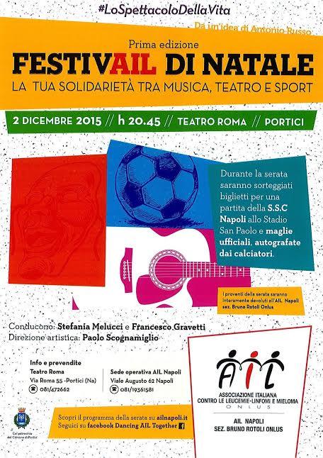 Soldarietà. Il 2 dicembre il Festivail di Natale a Portici