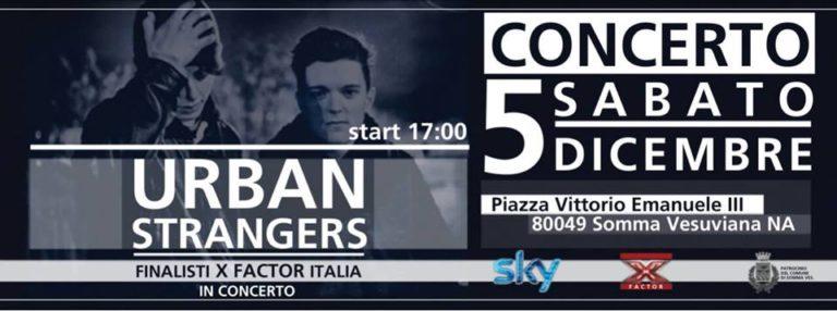 Gli Urban Strangers in finale e domani in concerto a Somma