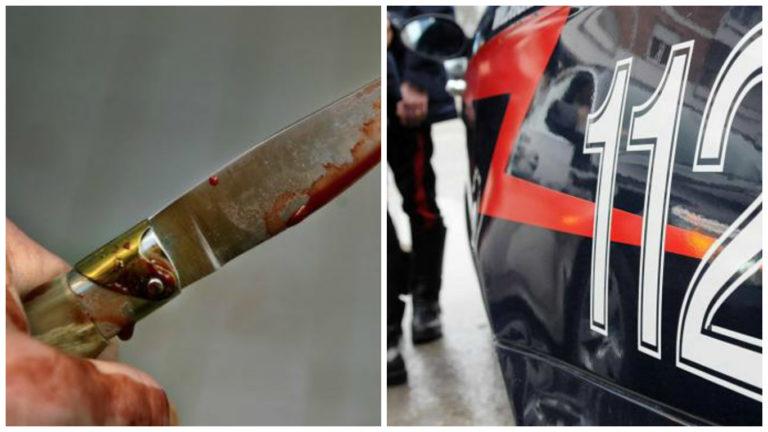 Donna si accoltella in strada, salvata dai carabinieri