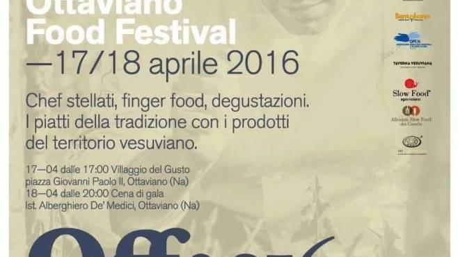 OTTAVIANO FOOD FESTIVAL, due giorni tra enogastronomia, cultura e beneficenza