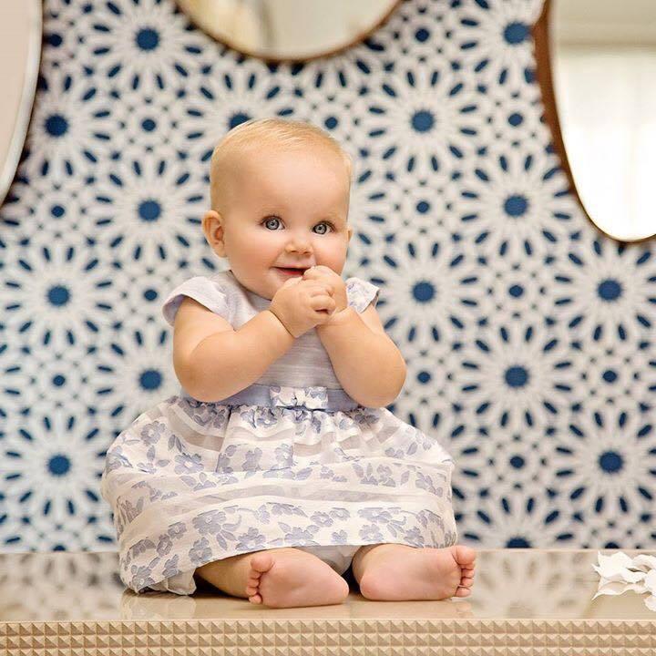 Baby modella di 1 anno da Somma a D&G e Armani