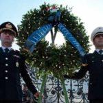 ROMA ALTARE DELLA PATRIA CORONA IN MEMORIA DEI CADUTI DELLA POLIZIA LOCALE 12 FEBBRAIO 2015