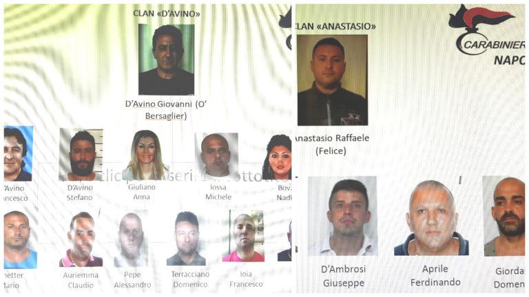Pizzo da 800 a 15mila euro ai clan D'Avino e Anastasio, 21 arresti -foto
