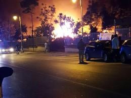 Incendio a Camposano, danni a fabbrica di pellet