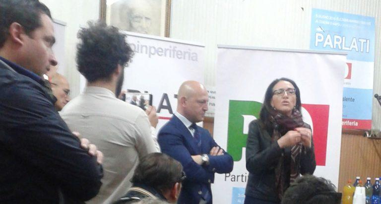 Valeria Valente apre la campagna elettorale del democrat Parlati