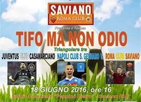 """""""Tifo ma no odio"""", torneo di pace calcistica a Saviano"""