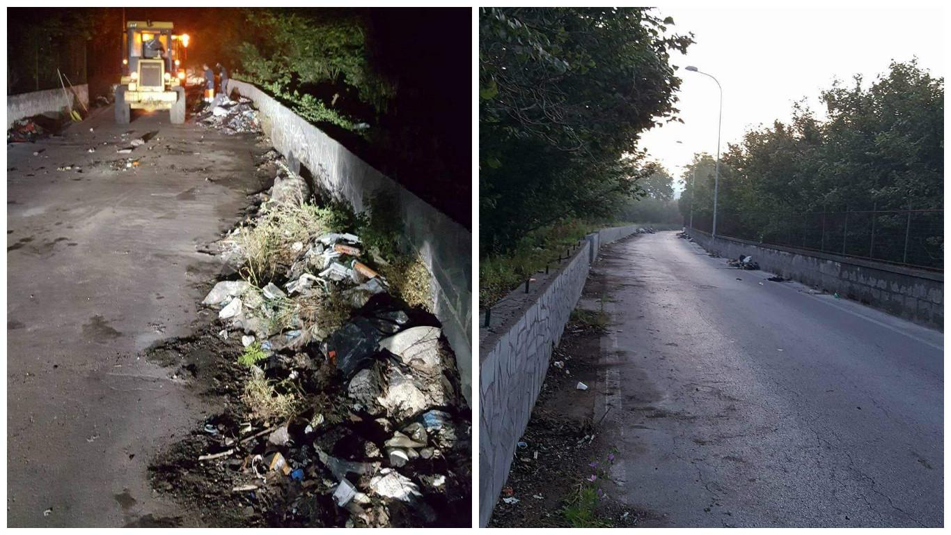 boscoreale strada pulita rifiuti