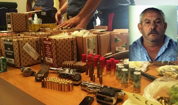Armi e droga nascoste alla Zazzera, arrestato 65enne FOTO