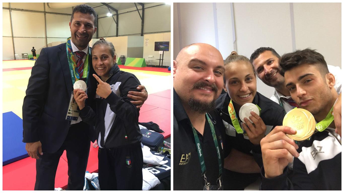 olimpiadi 2016 dario romano con atleti judoka