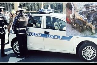 Paura a S.Antimo, auto a gas in fiamme vicino alla scuola