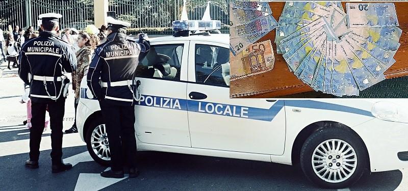 polizia locale ritrova portafogli