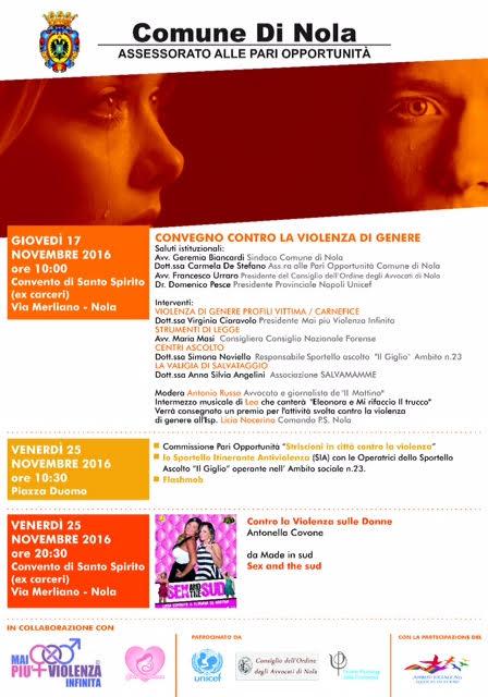 Giornata internazionale contro la violenza sulle donne: meeting a Nola