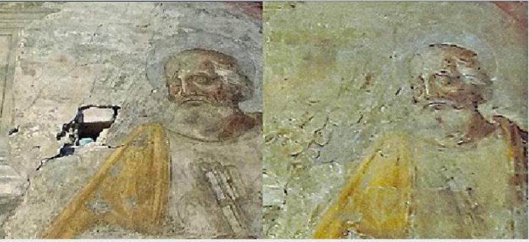 Basilica di San Giovanni Maggiore, restaurato affresco del '500 danneggiato da lavori edili
