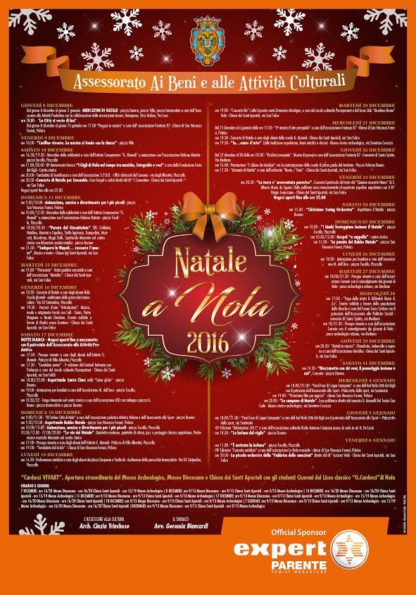 Natale a Nola. Ecco il calendario degli eventi in città, a Polvica e Piazzolla