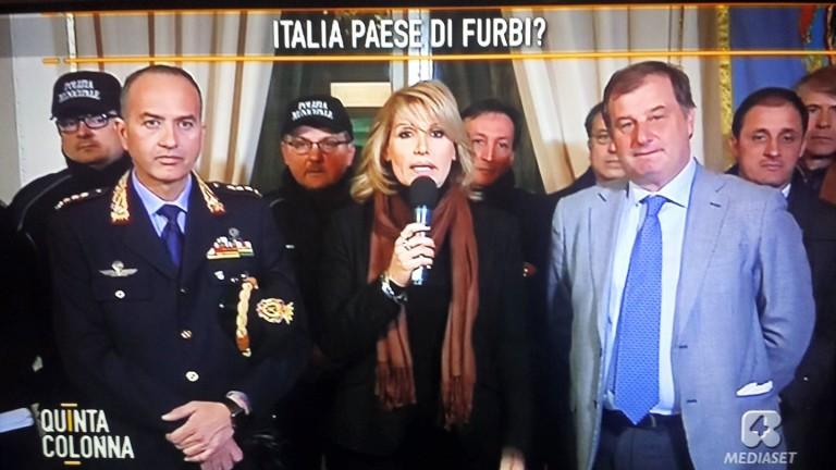 Nola, il comandante Maiello sviene in diretta al talk show Quinta Colonna