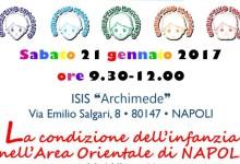 """""""La condizione dell'infanzia nell'Area Orientale di Napoli"""", se ne discute il 21 gennaio"""