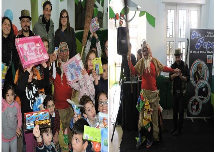 Calze e giocattoli per la Befana con Mr Pepe e Angelo Iannelli