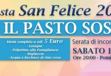 """Per S. Felice a Pomigliano si può donare un """"pasto sospeso"""" a chi non può pagarlo"""