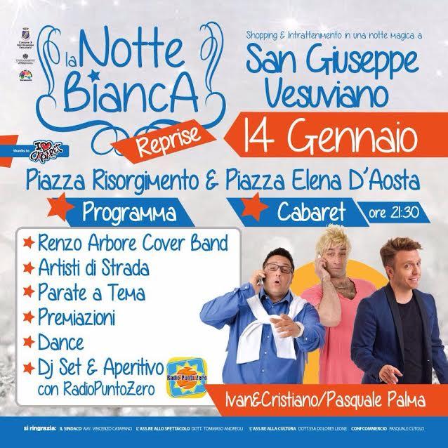 """""""Notte Bianca"""": dj-set, musica e cabaret a San Giuseppe Vesuviano"""