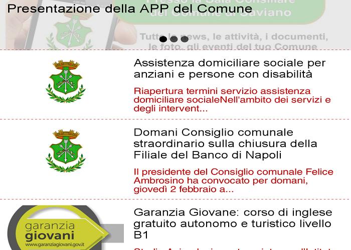 App Comune di Saviano