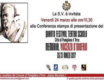 Quarto Festival Teatro Scuola, Memorial Vincenzo D'Onofrio