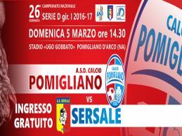 Asd Calcio Pomigliano, domenica ingresso gratuito contro il Sersale