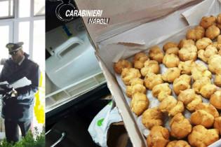 Nuovo blitz dei carabinieri, a Somma sequestrati 500 chili di dolci e rustici