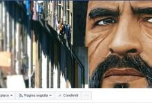 Maradona ringrazia Napoli per il murales su di lui postandolo su Facebook