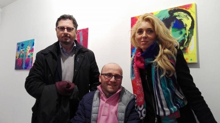S.Anastasia. Antonio Raia, artista con sclerosi multipla espone al Pan FOTO