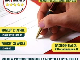 Firma day, in Comune a Somma per sottoscrivere la lista del M5s