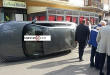 Terribile incidente stradale a Saviano in pieno centro cittadino: un ferito