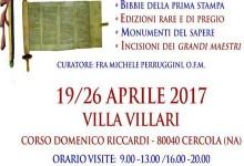 Mostra Biblica, dal 19 -26 aprile a Villa Villari a Cercola