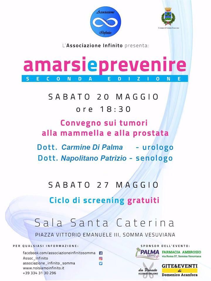 """""""Amarsi e Prevenire"""", a Somma visite gratuite contro cancro alla prostata e seno ed un convegno"""