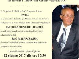 Mario Sbarra, la città intitola una sala teatrale al professore
