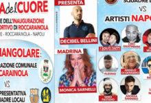 Artisti , amministratori e giovani calciatori per inaugurare il campo sportivo di Roccarainola