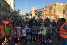 Casalnuovo. Inaugurata piazza Ponticelli, nuovo look e giochi per i bambini FOTO