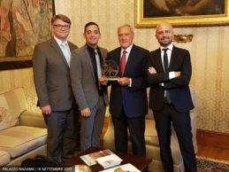 Italian Movie Award 2017: Incontro con il Presidente del Senato Piero Grasso